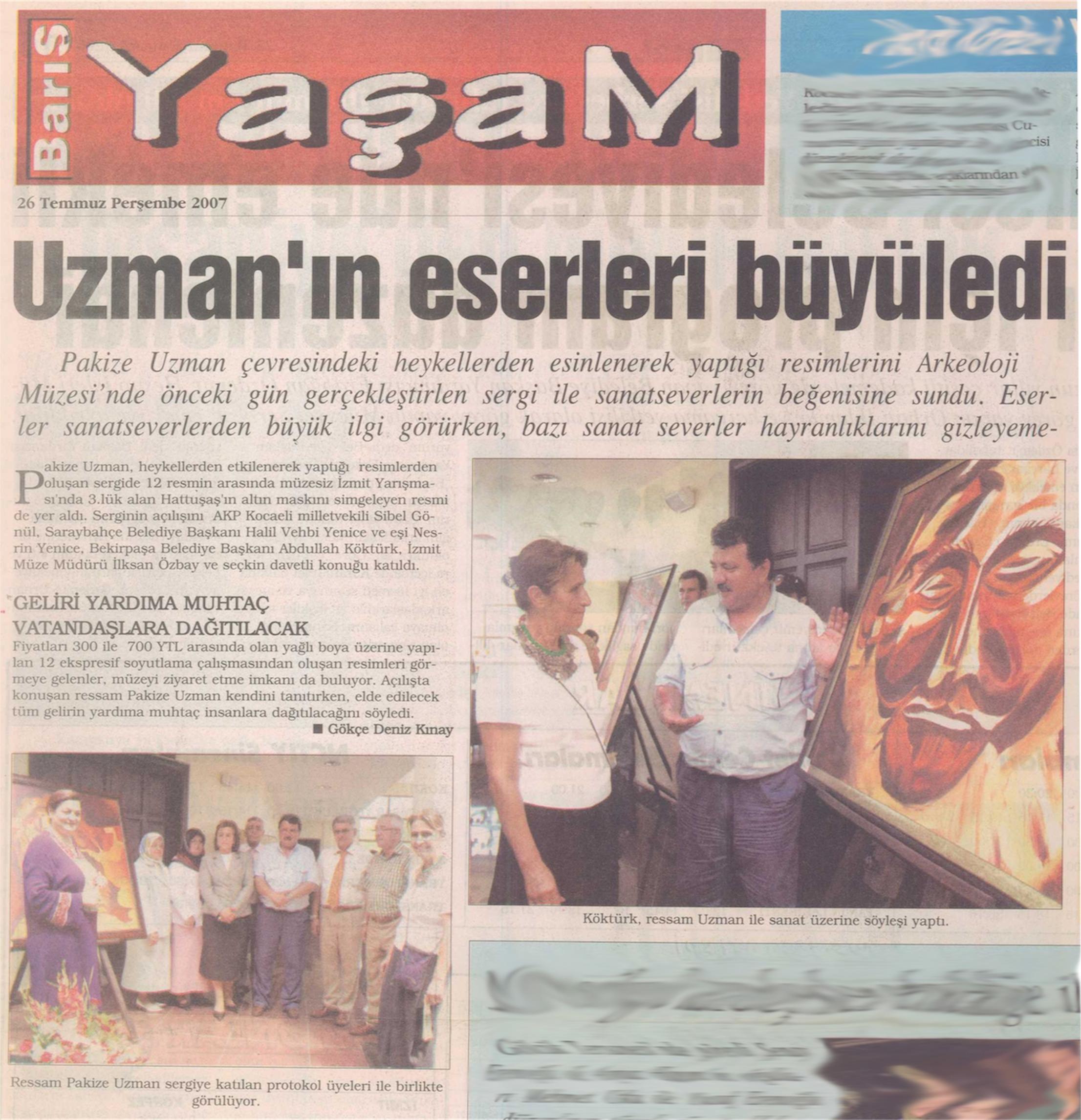 HOME PAKİZEUZMAN EXHIBITIONS PRESS CONTACT